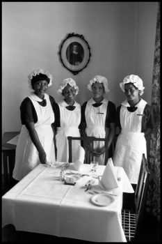 SOUTH AFRICA. Town of Graaf Reinet. 1978. Hotel maids.