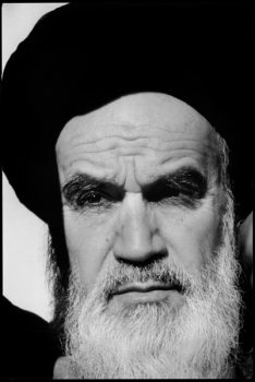 IRAN:  QOM  September 1979.L'Ayatollah KHOMEINY, leader of the Revolution.