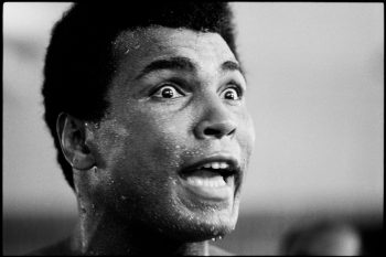 ZAIRE. Kinshasa. 1974. Muhammad ALI during training.