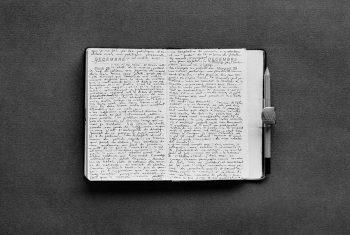 MEXICO. 1983. ABBAS's handwritten diary.