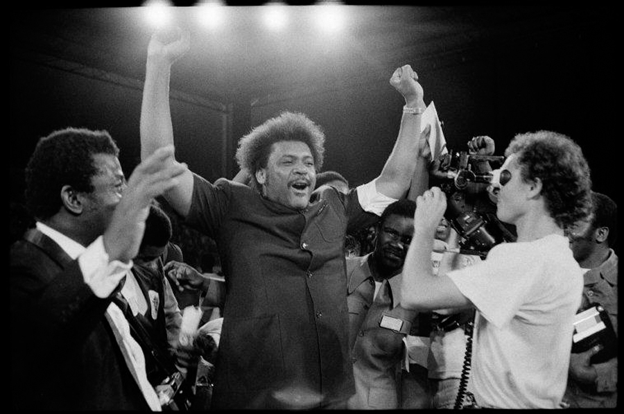 ZAIRE. Kinshasa. Boxing promoter Don KING, who arranged the fight. 1974.