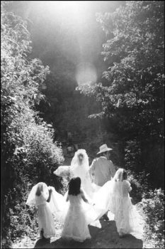 MEXICO. Oaxaca state. Huautla. Wedding procession. 1983.